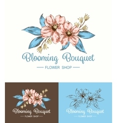 Flower Logo Shop vector