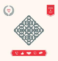 Geometric arabic pattern logo vector