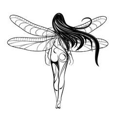 Girl fairy 2021 0002 vector