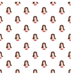 girl long haircut pattern vector image