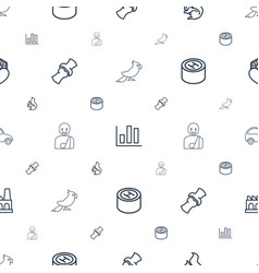 Graphic icons pattern seamless white background vector