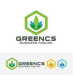green consult logo design vector image