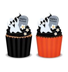 Halloween Cupcake vector