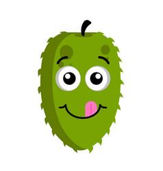 happy soursop emoticon vector image