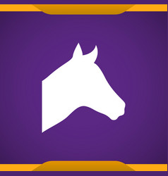 Horse icon for web and mobile vector