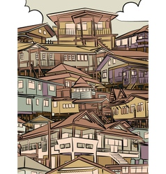 Jumbled housing vector