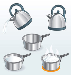 Kettles and Pots 1 vector image