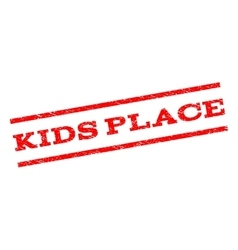Kids place watermark stamp vector