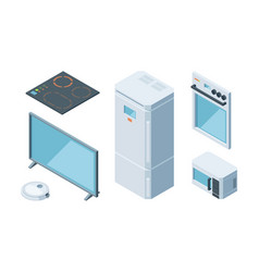 kitchen isometric furniture set two chamber vector image