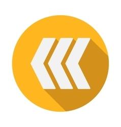 Left modern arrow icon flat style vector image