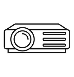 Lesson projector icon outline style vector