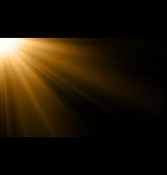Light ray or sun beam background abstract gold vector
