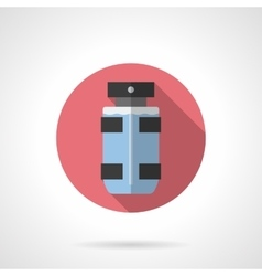 Male deodorant flat color round icon vector