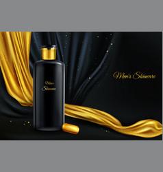 Mock up of cosmetics for men vector