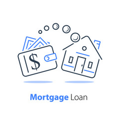 Mortgage loan refinance low interest rate vector