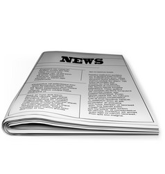 newspaper on white vector image