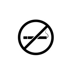 no cigarettes sign icon element of travel icon vector image