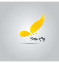 Orange Abstract butterfly vector