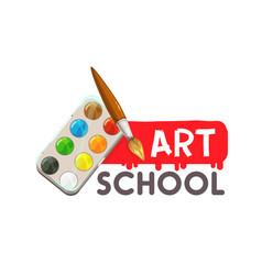 Painting art school artist watercolor paint brush vector