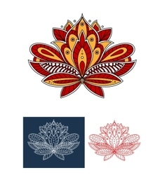 Paisley flower with ethnic persian ornaments vector image