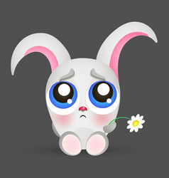 Portrait of a sad rabbit vector image