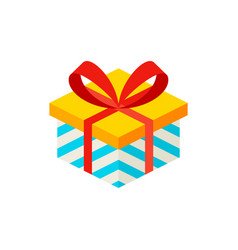 present box isometric object vector image