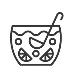 Punch christmas related line style icon vector