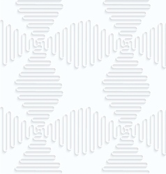 Quilling paper waves forming crosses vector