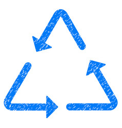 Recycling triangle icon grunge watermark vector