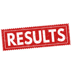 Results sign or stamp vector