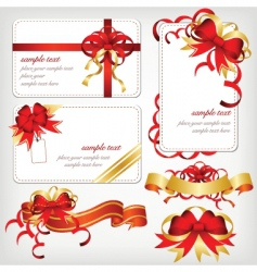 ribbons borders vector image