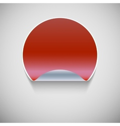 Round red sticker vector image