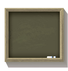 school blackboard with pieces chalk vector image