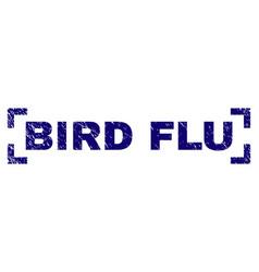 Scratched textured bird flu stamp seal inside vector