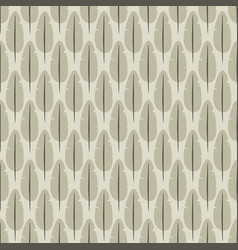 seamless pattern with stylized feathers vector image