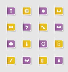 Set a collection unique paper stickers fashion vector