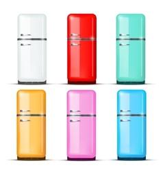 Set of Fridge refrigerator isolated on white vector