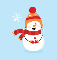 snowman children s picture card vector image