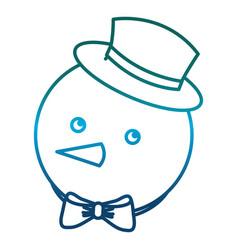snowman icon image vector image