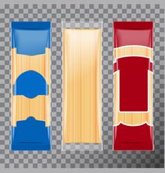 Spaghetti capellini pasta package template design vector