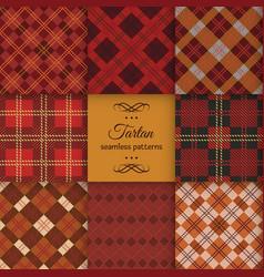 tartan seamless pattern set vector image