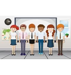 Teachers standing in classroom vector image