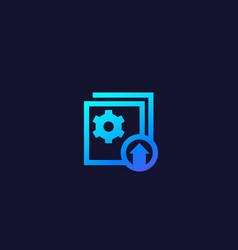 Upgrade update icon vector