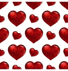 Valentines day pattern with heart vector image