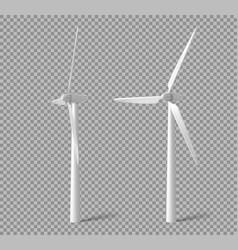 Wind turbines windmills energy power generators vector