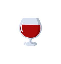 wine glass icon modern minimal flat design style vector image
