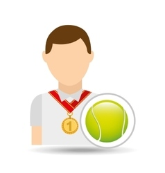 athlete medal tennis ball icon graphic vector image vector image