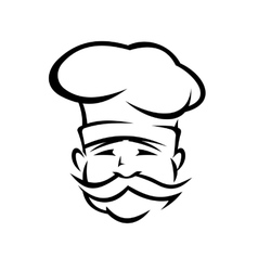 Chef or cook with a handlebar moustache vector image vector image