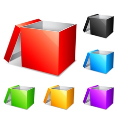 Color boxes vector image vector image