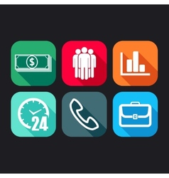 flat icons for web and mobile applications with vector image vector image